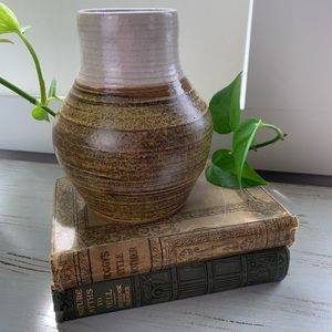 Ceramic Brown and Beige Vase